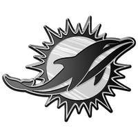 Miami Dolphins Auto Emblem - Silver