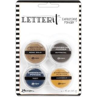 Ranger Letter It Embossing Powder Set-Metallics