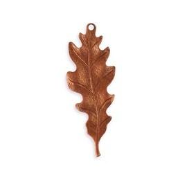 Vintaj Artisan Copper Oak Leaf Pendant 39.5mm x 15mm (1)