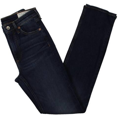 Rag & Bone Womens Nina Skinny Jeans High Rise Medium Wash - Blue - 24