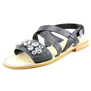 BCBGeneration Remmy Open-Toe Leather Slingback Sandal