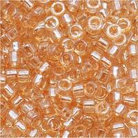 Miyuki Delica Seed Beads, 10/0 Size, 8 Grams, Light Topaz Luster DBM0101