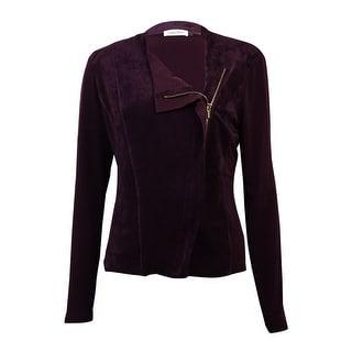 Calvin Klein Women's Zippered Long Sleeve Moto Jacket