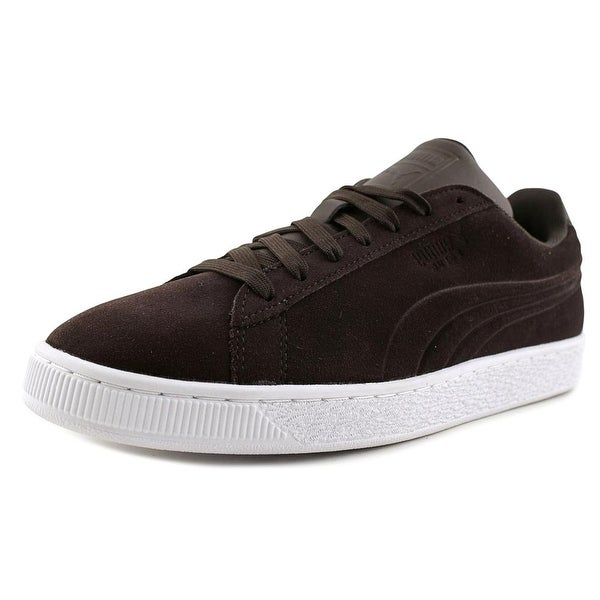 Puma Suede Classic Embossed Men Round Toe Suede Brown Sneakers