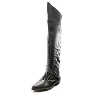 Chinese Laundry Succeeding Women Pointed Toe Leather Knee High Boot
