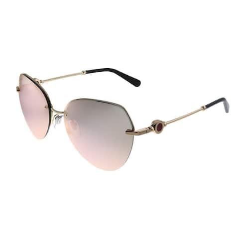 Bvlgari BV 6108 20144Z Womens Rose Gold Frame Rose Gold Mirror Lens Sunglasses