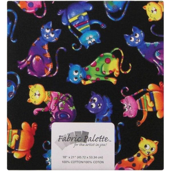 "Fabric Palette Precut 18""X21"" 1/Pkg-Novelty Cats"
