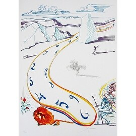 Melting Space-Time, Limited Edition, Lithograph, Salvador Dali