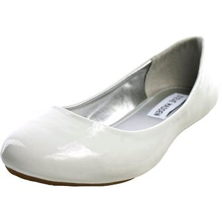 Steve Madden P-Heaven Youth  Round Toe Synthetic White Flats