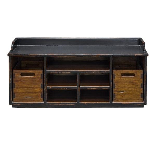 Shop Uttermost 25767 Ardusin 40 Inch Wide Wood Framed Hobby Bench