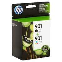 HP 901 2-pack Black/Tri-color Original Ink Cartridges CN069FN - black