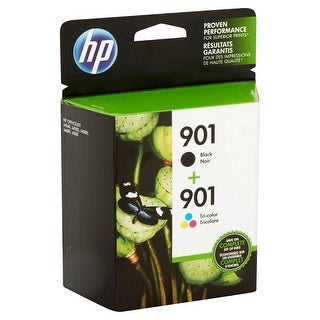 HP 901 2-pack Black/Tri-color Original Ink Cartridges CN069FN - black