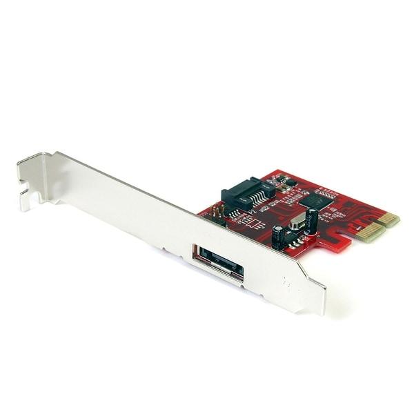 Startech 1X Esata + 1X Sata 6 Gbps Pci Express Sata Controller Card Adapter Pexsat31e1 (Red)