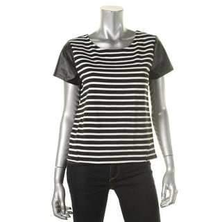 Sanctuary Womens Striped Sport Tee Casual Top - S