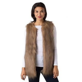 Black Swan Womens Frost Casual Vest Faux Fur Lined