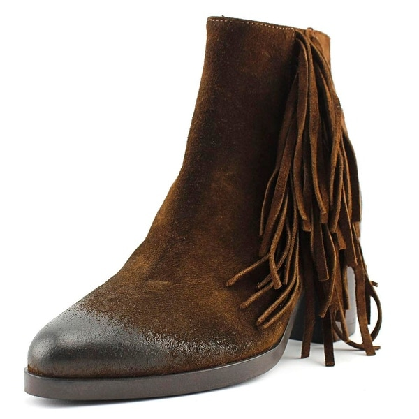 Vince Camuto Bianca Ankle Boot Women Pointed Toe Leather Brown Ankle Boot