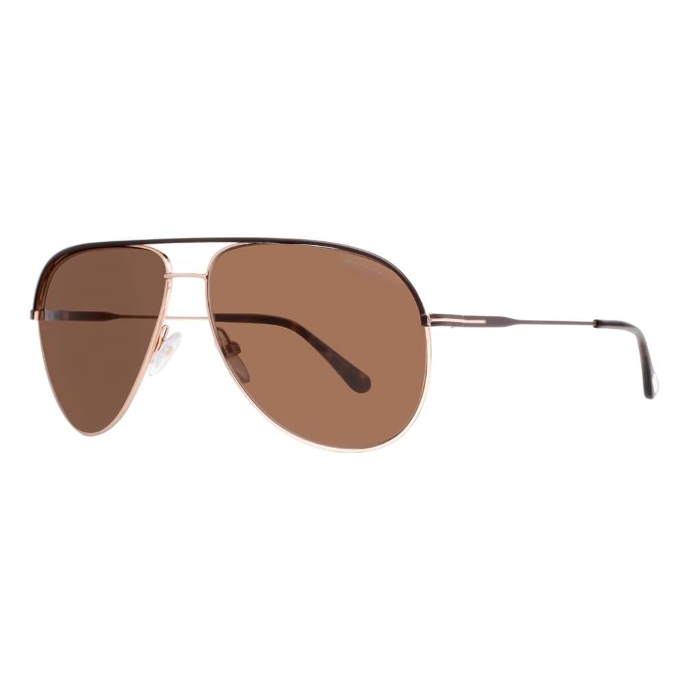 0dd77e0fe83dc Shop Tom Ford Erin TF466 50J Rose Gold Havana Brown Aviator Sunglasses -  havana brown/rose gold - 61mm-12mm-140mm - Free Shipping Today - Overstock  - ...