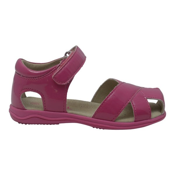 d75f1de28 Shop Girls Fuchsia Cross Strap Closure Leather Sandals 4-10 Toddler - Free  Shipping On Orders Over  45 - Overstock - 25600645