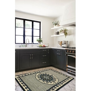Link to Gray and Cream Bordered and Medallion Rug Similar Items in Transitional Rugs