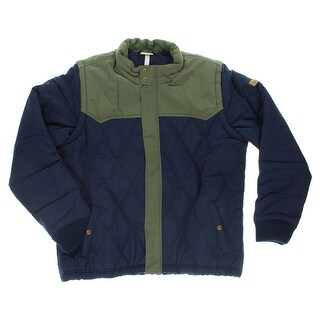 Adidas Mens Two in One Padded Snow Jacket Navy Blue - navy blue/sage green