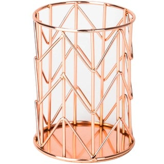 U Brands Pencil Cup, Wire Metal, Copper