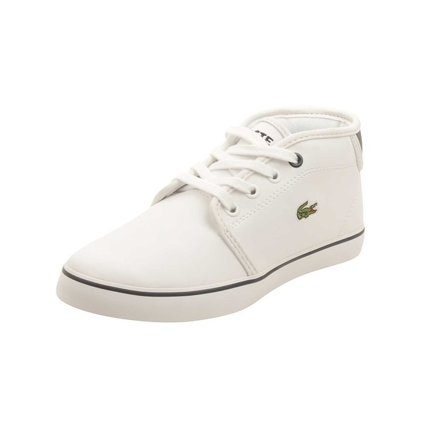 17a8cf88961048 Shop Lacoste Youth Ampthill 117 Sneakers in White Navy - Free Shipping  Today - Overstock.com - 16184532
