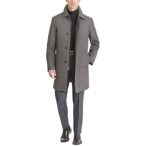 Calvin Klein Mens Rain Coat Gray Size 48R Slim-Fit Single-Breasted