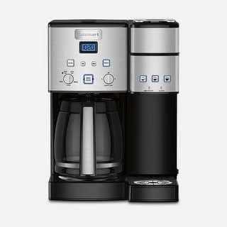 Cuisinart SS-15FR Maker Coffee Center 12-Cup Coffeemaker and Single-Serve Brewer, Silver, Certified Refurbished