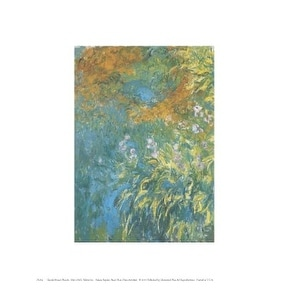 ''Yellow Iris'' by Claude Monet Floral Art Print (10 x 8 in.)