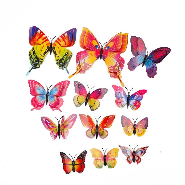 3D Butterfly Wall Sticker Decal with Stickers for Home Bedroom Decoration