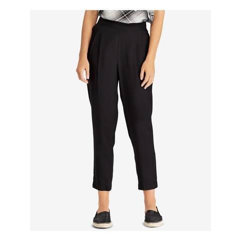 RALPH LAUREN Womens Black Pocketed Capri Wear to Work Pants Size 8