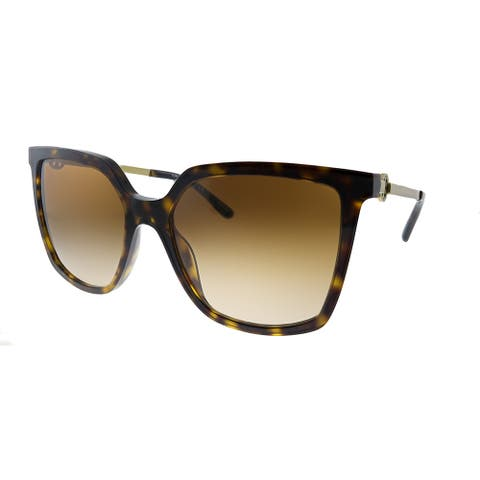 Tory Burch TY 7146 180013 Womens Dark Tortoise Frame Brown Gradient Lens Sunglasses
