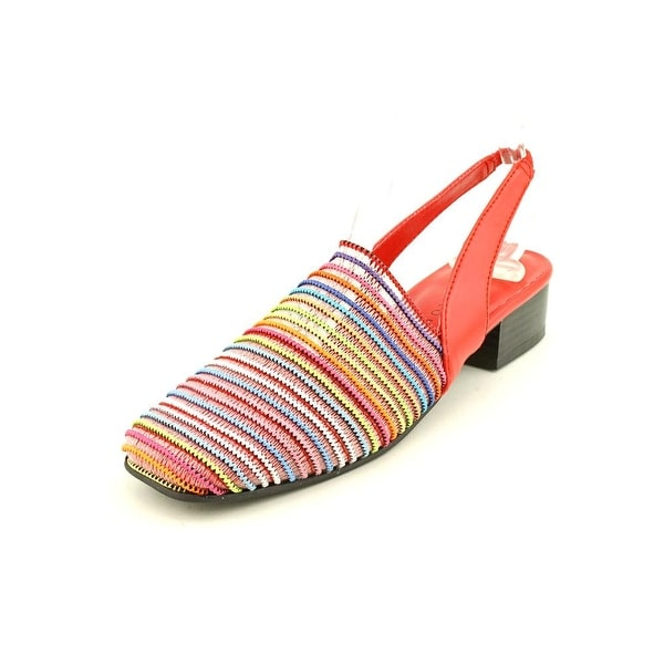 Karen Scott Carolton Women Round Toe Synthetic Red Slingback Heel
