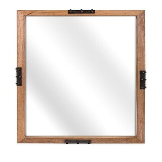 Shop Black Friday Deals On Stratton Home Decor Handcrafted 33 86 Tulum Rattan Mirror Natural On Sale Overstock 30600032