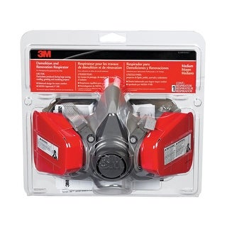 3M 62093HA1-C Demolition And Renovation Respirator, Assorted Color