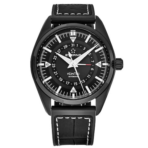 Eterna Men's 1598.43.41.1306 'KonTiki' Black Dial Swiss Automatic Watch
