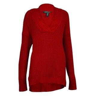 Lauren Ralph Lauren Women's Cable Knit V-Neckline Sweater