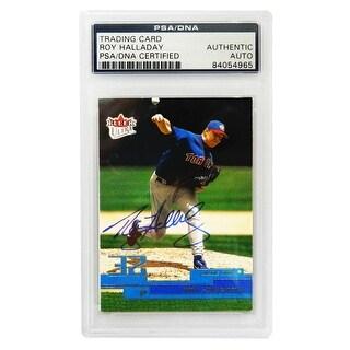 Roy Halladay Toronto Blue Jays 2002 Fleer Trading Card 38 PSA Encapsulated