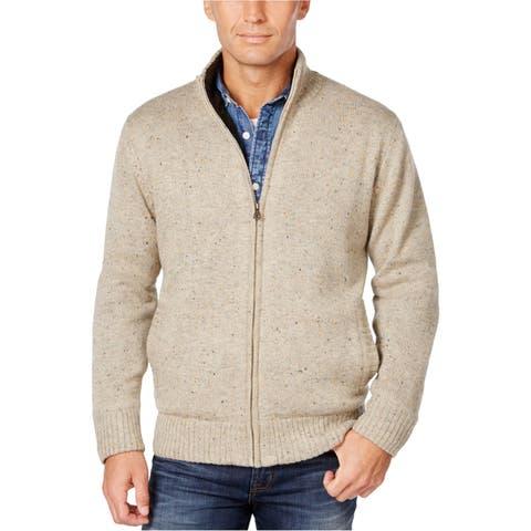 Weatherproof Mens Full Zip Cardigan Sweater