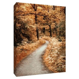 """PTM Images 9-148578  PTM Canvas Collection 10"""" x 8"""" - """"Winding Path"""" Giclee Forests Art Print on Canvas"""