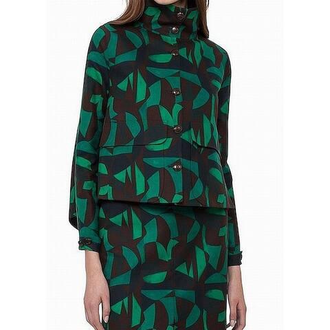 Akris Women's Button Down Geo Print Mock Jacket