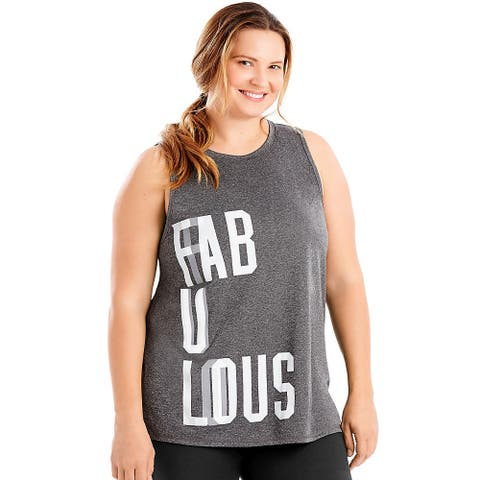 "Just My Size Active Graphic Muscle Tank â"" Fabulous"