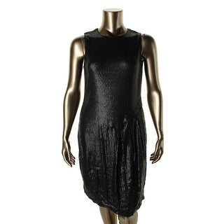 Mynt 1792 Womens Plus Sequined Pleated Party Dress - 16W