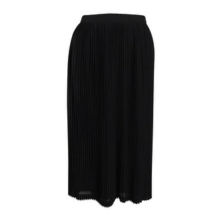 Calvin Klein Women's Pleated Midi Skirt (2, Black) - 2
