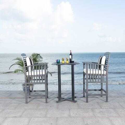 Safavieh Outdoor Living Pate 3Pc Bar Height Bistro Set