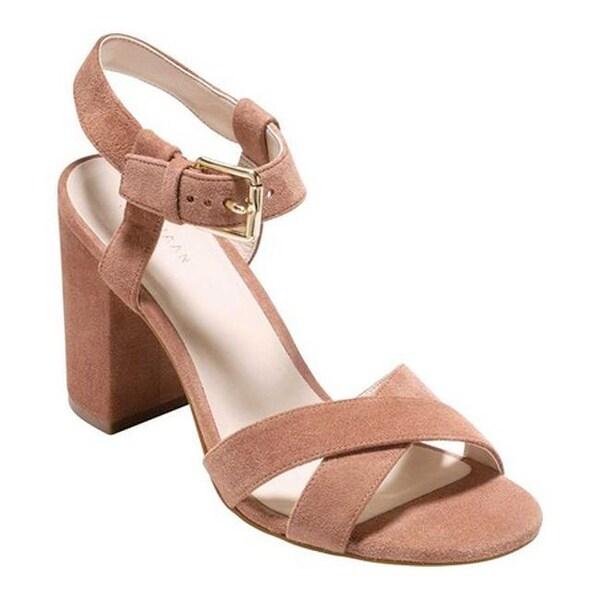 acf1a0e810a6 Shop Cole Haan Women s Kadi Ankle Strap Sandal Mocha Mousse Suede ...