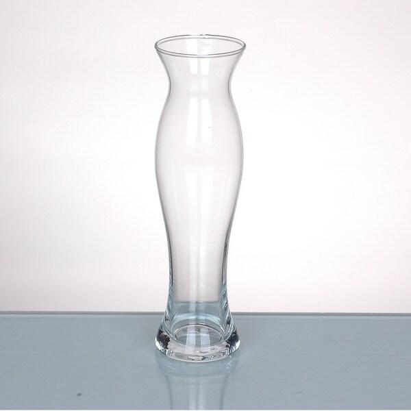 "9"" Clear Glass Flower Bud Vase Tabletop Decor - N/A"