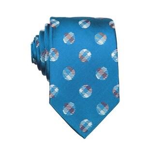 Nick Cannon Mens Polka Dot Classic Silk Tie Cornflower Blue