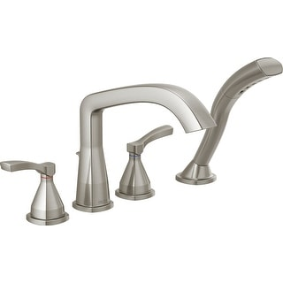 Delta T4776  Stryke Deck Mounted Roman Tub Filler with Lever Handles and Built-In Diverter