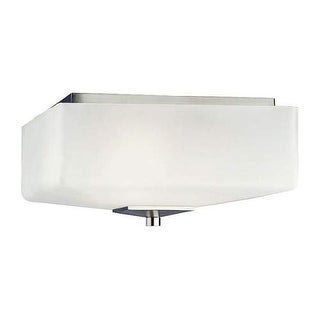 "Forecast Lighting F602636NV 3 Light 13"" Wide Flush Mount Ceiling Fixture from the Radius Collection - Satin Nickel"